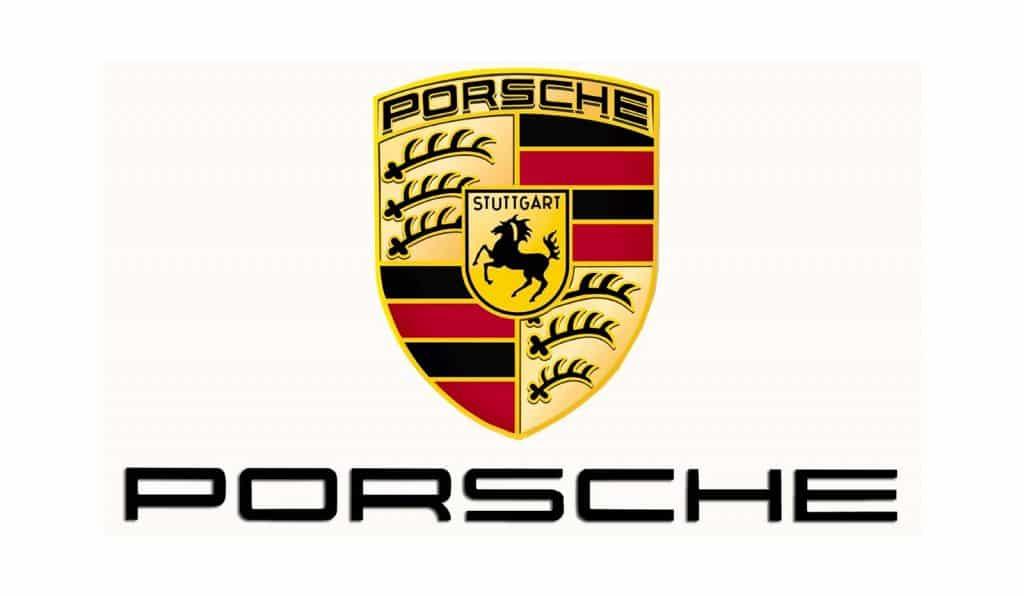 Porsche logotyp med vit bakgrund
